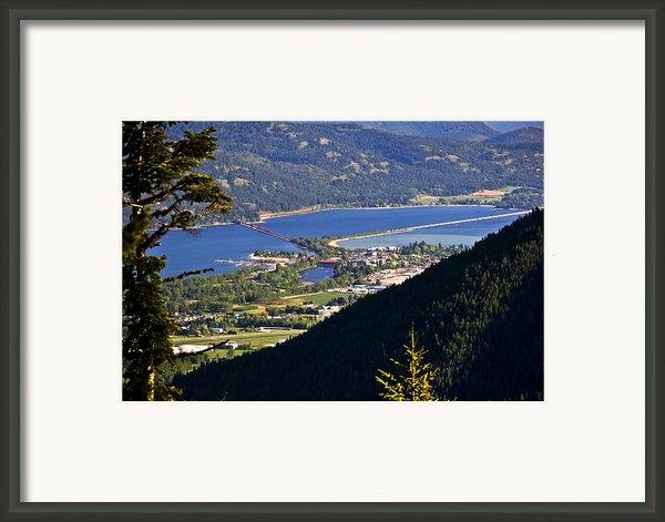 Looking Down On Sandpoint Framed Print By Albert Seger
