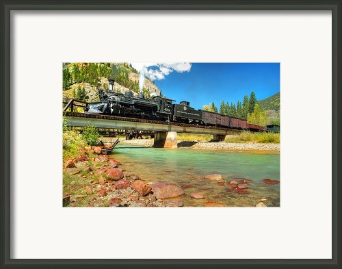 Looking Up From The Riverbed Framed Print By Ken Smith