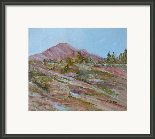 Looking Up The Hill Framed Print By Jo Anne Neely Gomez