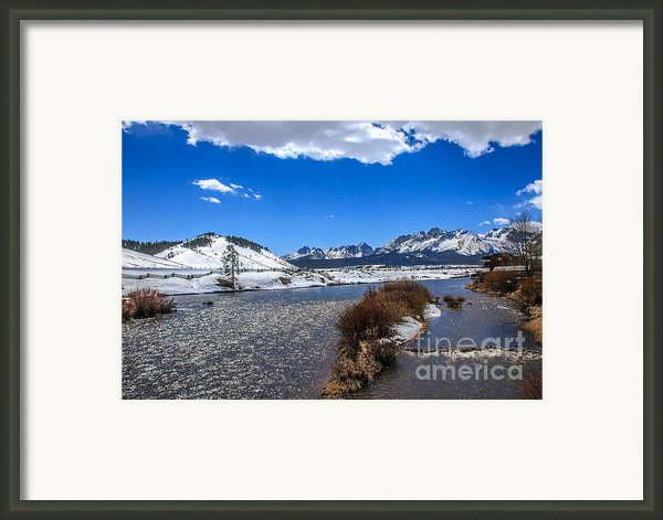 Looking Up The Salmon River Framed Print By Robert Bales