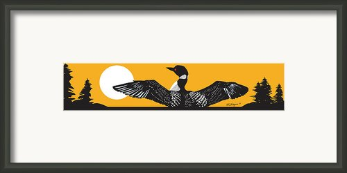 Loon Lake Framed Print By Derrick Higgins