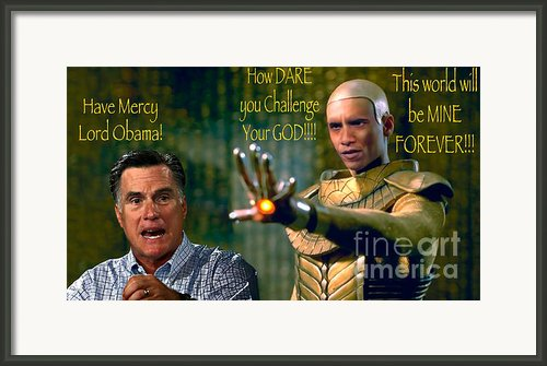 Lord Obama The Merciless Framed Print By Steven Love