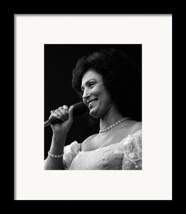 Loretta Lynn Singing  Framed Print By Retro Images Archive