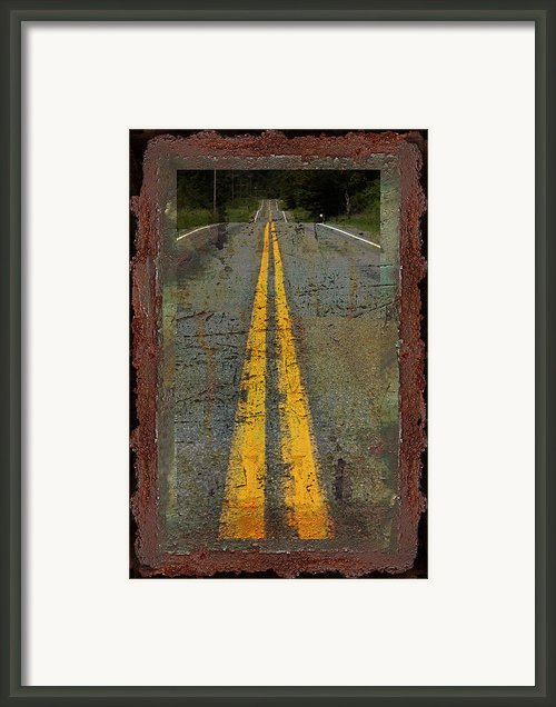 Lost Highway Framed Print By John Stephens
