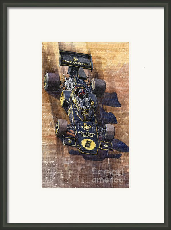 Lotus 72 Canadian Gp 1972 Emerson Fittipaldi  Framed Print By Yuriy  Shevchuk