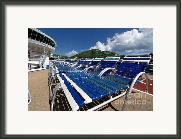 Lounge Chairs Adventure Of The Seas Framed Print By Amy Cicconi