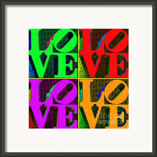 Love 4 Philadelphia - Painterly V4 Framed Print By Wingsdomain Art And Photography