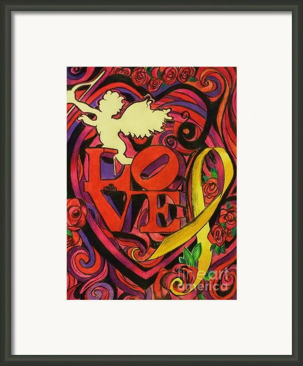 Love And Liberty Framed Print By Kevin J Cooper Artwork
