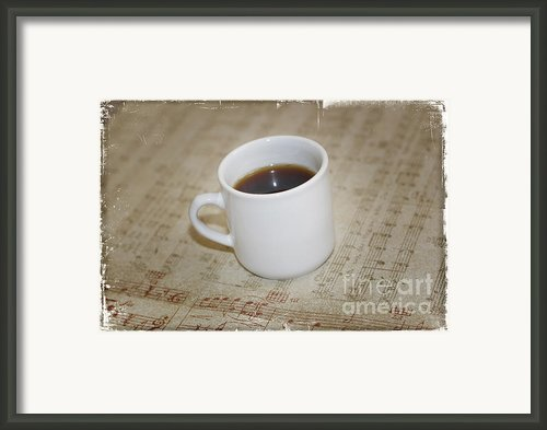 Love Coffee And Music Framed Print By Nina Prommer
