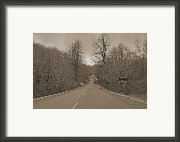 Love Gap Blue Ridge Parkway Framed Print By Betsy A  Cutler