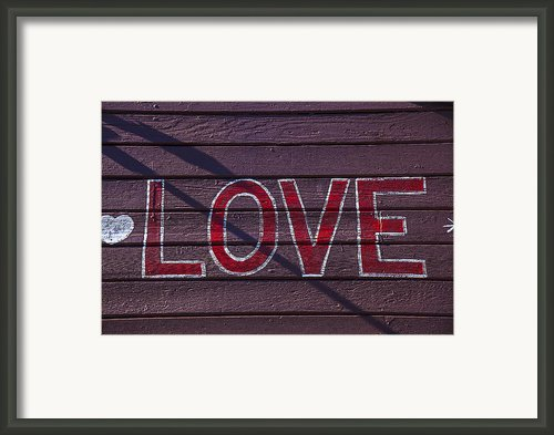 Love Framed Print By Garry Gay
