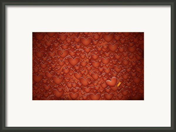 Love Patches Framed Print By Sanely Great