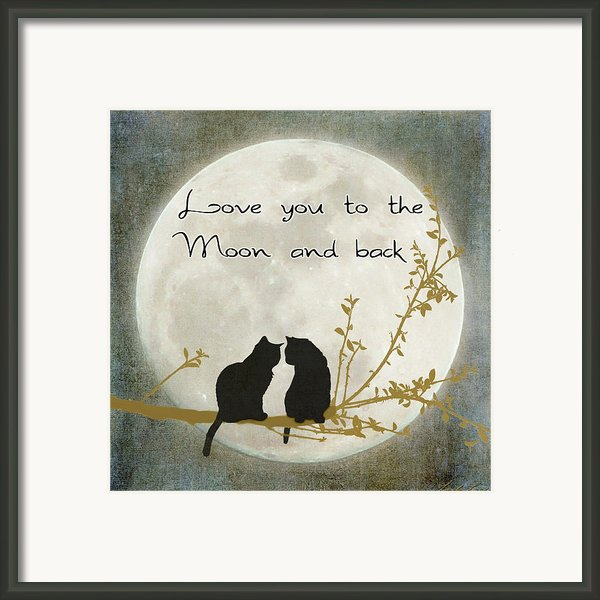 Love You To The Moon And Back Framed Print By Linda Lees