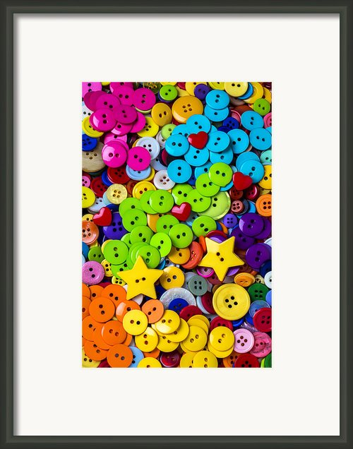 Lovely Buttons Framed Print By Garry Gay