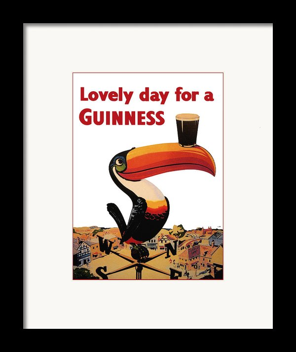 Lovely Day For A Guinness Framed Print By Nomad Art And  Design