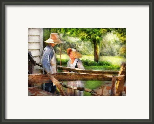 Lover - The Courtship Framed Print By Mike Savad