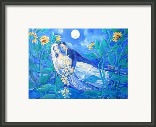Lovers And Sunflowers  Framed Print By Trudi Doyle