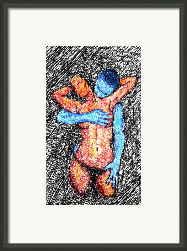 Lovers Wired Together  Framed Print By Kenal Louis