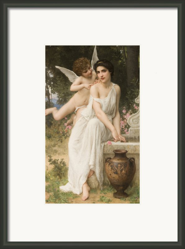 Loves Whisper Framed Print By Charles Lenoir