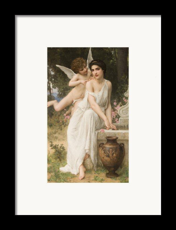 Loves Whisper Framed Print By Charles Lenoir
