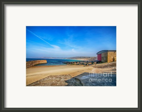 Low Tide At Sennen Cove 2 Framed Print By Chris Thaxter