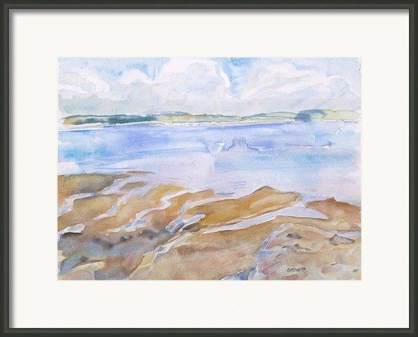 Low Tide - Penobscot Bay Framed Print By Grace Keown