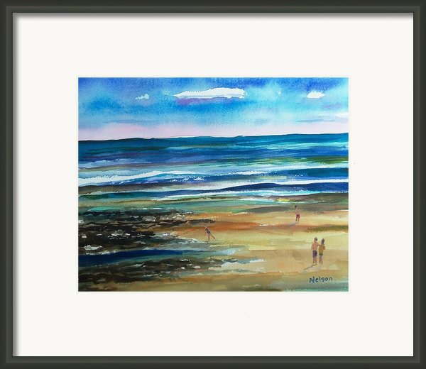 Low Tide Wells Beach Maine Framed Print By Scott Nelson