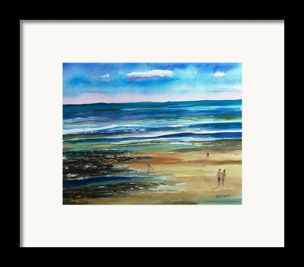 Low Tide Wells Beach Maine Framed Print By Scott Nelson