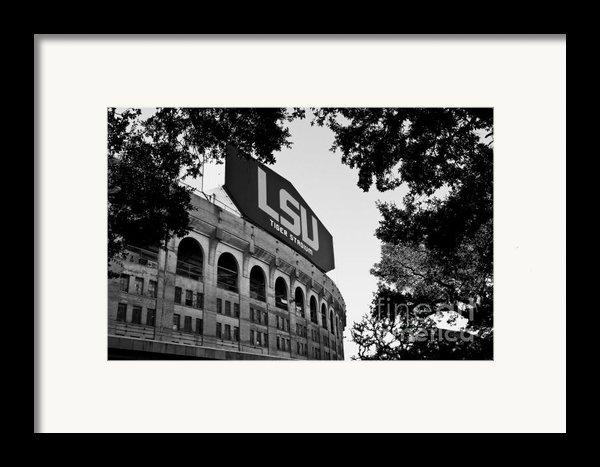 Lsu Through The Oaks Framed Print By Scott Pellegrin