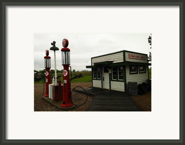 Lubrication Center Hardin Montana Framed Print By Jeff  Swan