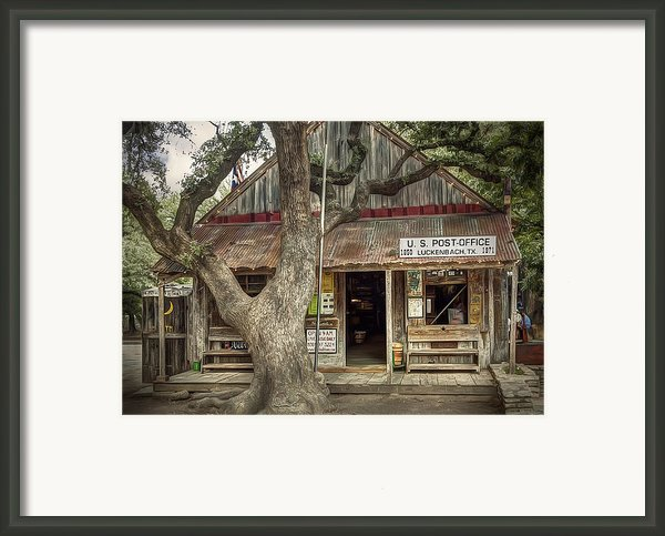 Luckenbach 2 Framed Print By Scott Norris