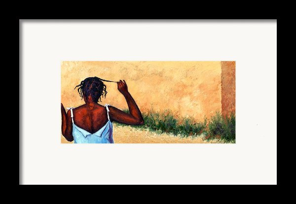 Lucie In Haiti Framed Print By Janet King