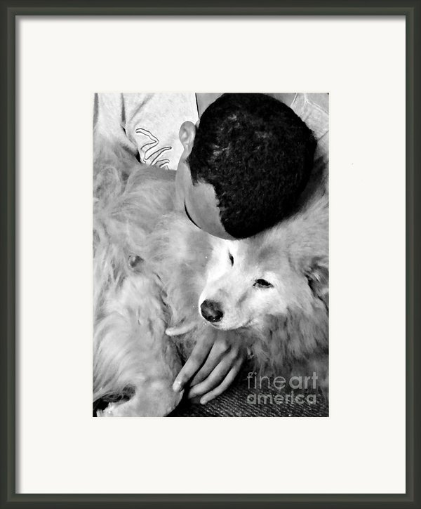Luke And Little Bear Framed Print By Sarah Loft