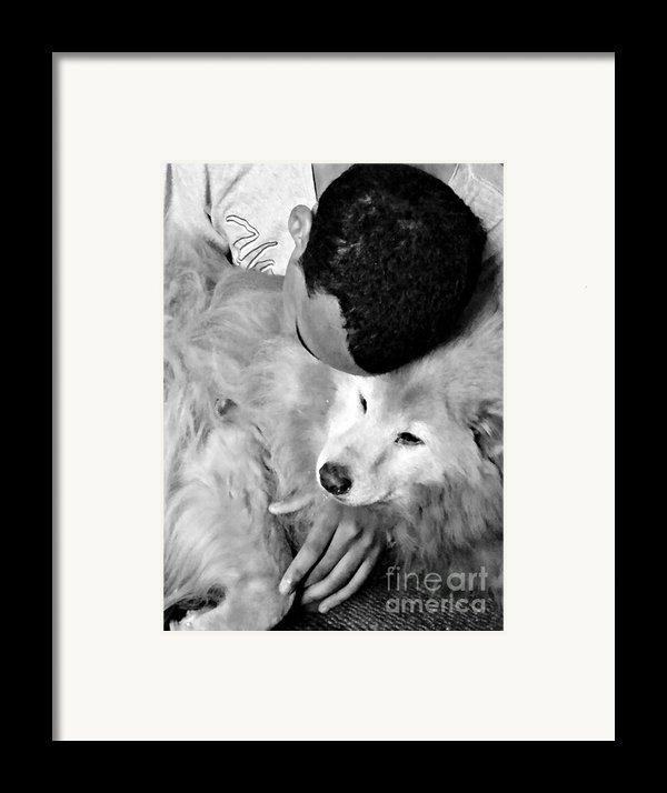 Luke And Little Bear Framed Print By Sarah Loft