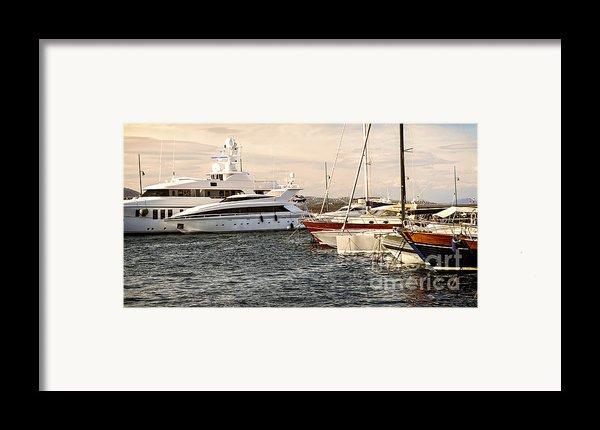 Luxury Boats At St.tropez Framed Print By Elena Elisseeva