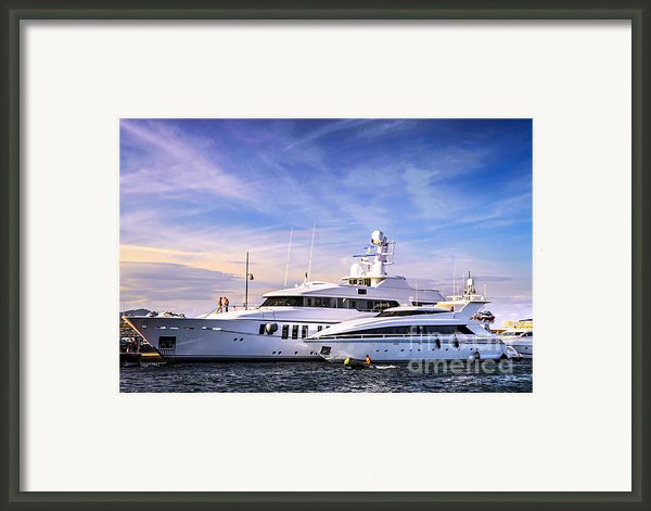 Luxury Yachts Framed Print By Elena Elisseeva