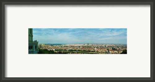 Lyon From The Basilique De Fourviere-color Framed Print By Paulette Wright