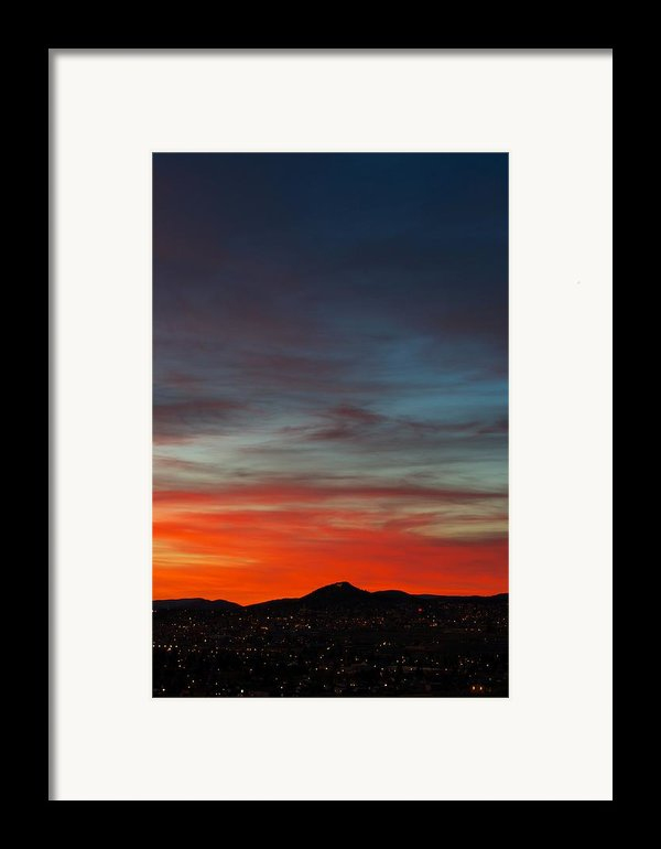 M On Fire  Framed Print By Kevin Bone