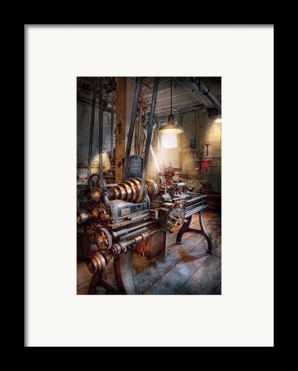 Machinist - Fire Department Lathe Framed Print By Mike Savad