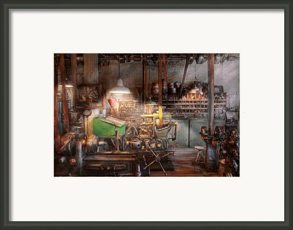 Machinist - It All Starts With A Journeyman  Framed Print By Mike Savad