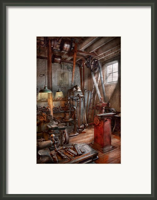 Machinist - The Modern Workshop  Framed Print By Mike Savad