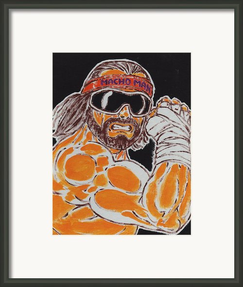 Macho Man Randy Savage Framed Print By Matt Molleur