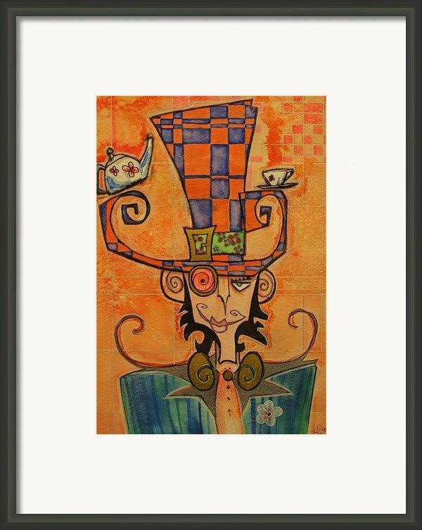 Mad Hatter Framed Print By Ellen Henneke