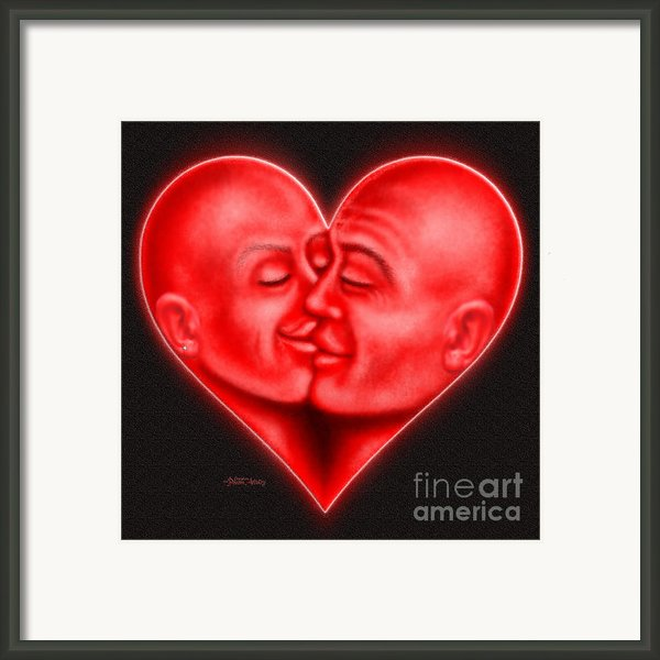 Mad Love Framed Print By Cristophers Dream Artistry