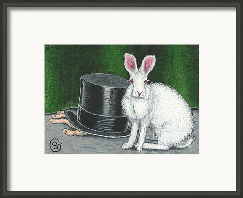 Mad March Hare -- Now You See How It Feels Framed Print By Sherry Goeben