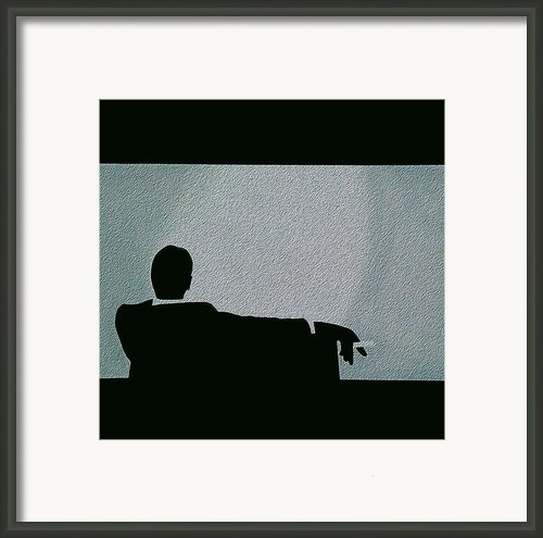 Mad Men Frozen Framed Print By John Lyes