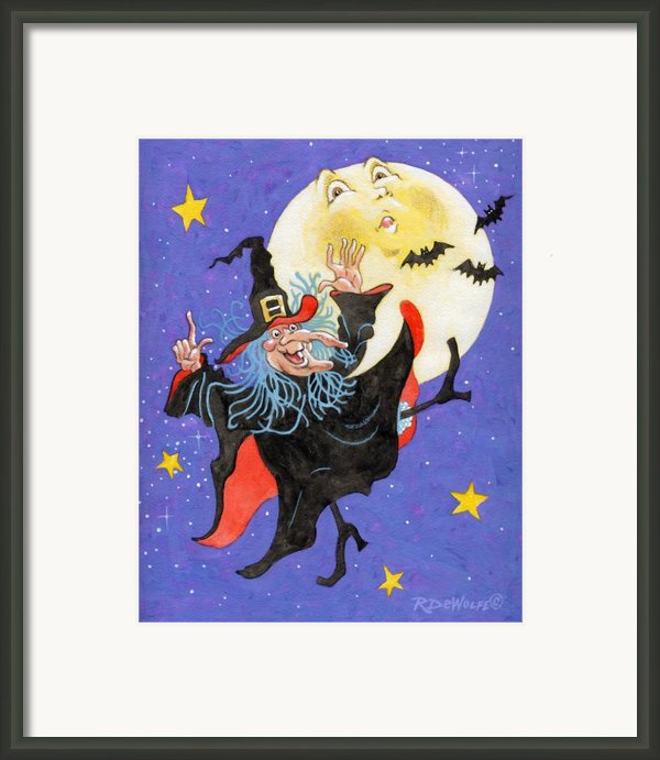 Mad Millie Moon Dance Framed Print By Richard De Wolfe