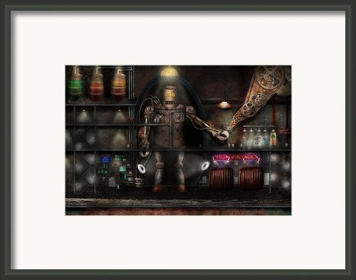 Mad Scientist - The Enforcer Framed Print By Mike Savad