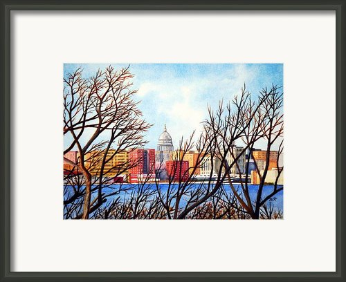 Madison Treed Framed Print By Thomas Kuchenbecker