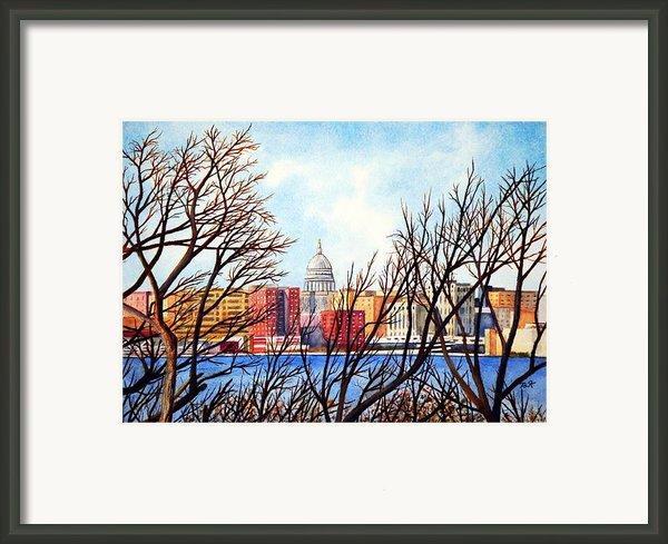 Madison Treed Framed Print By Thomas Kuchenbecker